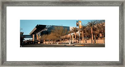 Building Along A Street, Phoenix Framed Print by Panoramic Images