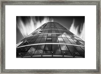 Building And Clouds Framed Print