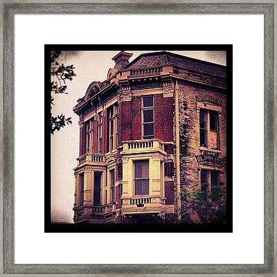 #building #architecture #brick #old Framed Print
