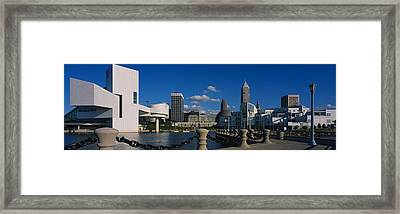 Building At The Waterfront, Rock And Framed Print by Panoramic Images