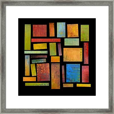 Building Blocks Three Framed Print by Michelle Calkins