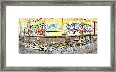 Building By The Tracks Framed Print by Andrew Martin