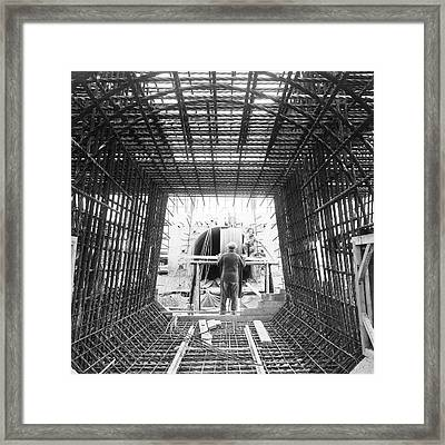 Building Coal Dust Explosion Gallery Framed Print by Crown Copyright/health & Safety Laboratory Science Photo Library