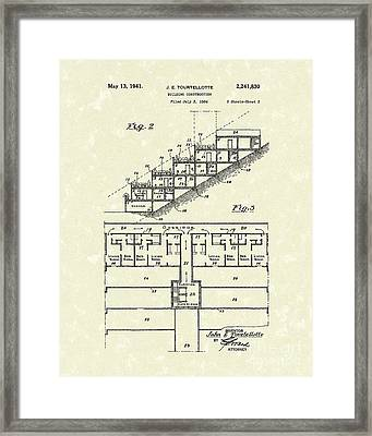 Building Construction 1941 Patent Art Framed Print by Prior Art Design