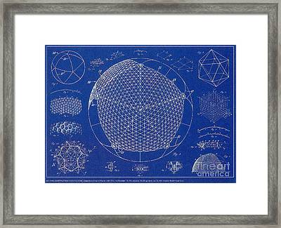 Building Construction Geodesic Dome 1951 Framed Print