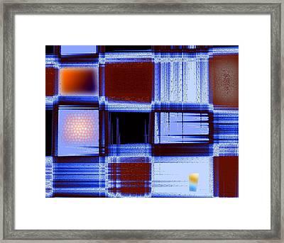 Building Facade In Abstract Art Framed Print by Mario Perez