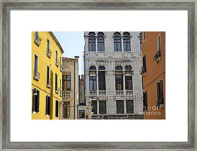 Building Facades Framed Print by Sami Sarkis