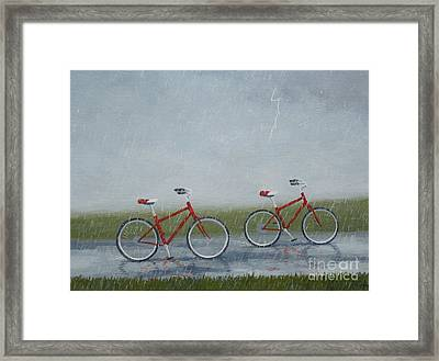 Building Friendship Framed Print
