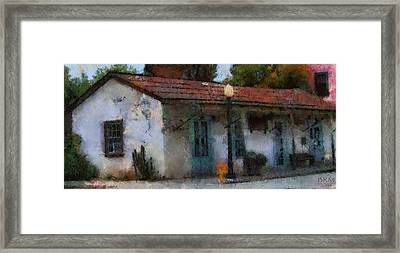 Building In San Juan Bautista Framed Print by Barbara R MacPhail
