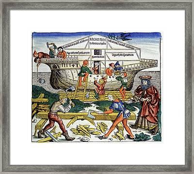 Building Noah's Ark Framed Print by Cci Archives