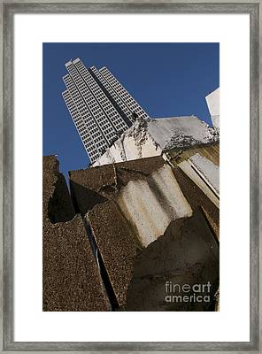 Framed Print featuring the photograph Building Out Of Concrete by Sherry Davis