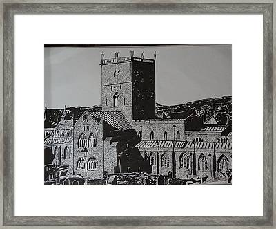 Building Pen Art Framed Print by Saisreeja Bandaru
