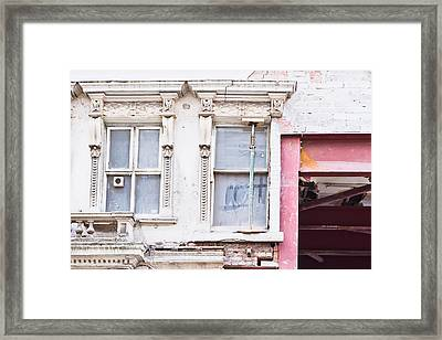 Building Repair Framed Print by Tom Gowanlock