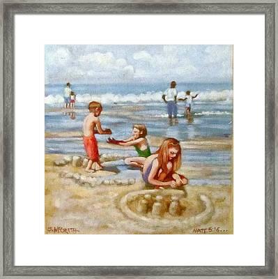 Building Sandcastles Framed Print