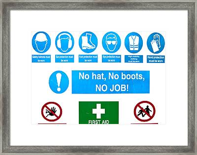 Building Site Safety Framed Print by Tom Gowanlock
