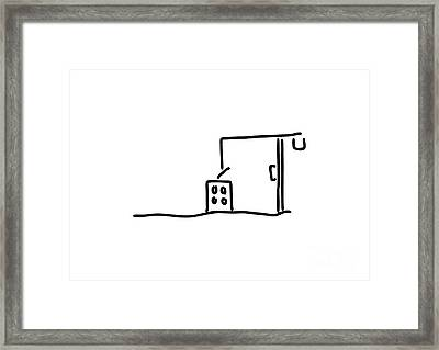 Building Site With Crane Building A House Framed Print by Lineamentum