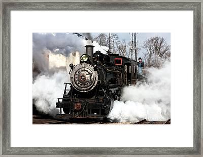 Building Steam Framed Print by John Rizzuto