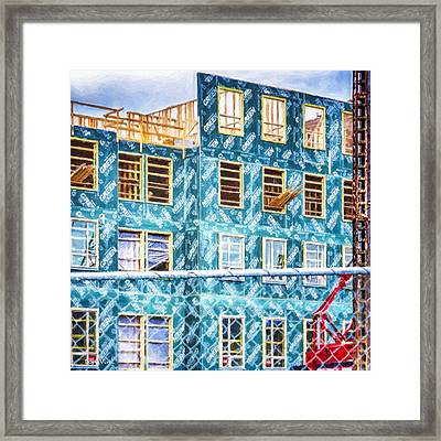 Building The Future Framed Print