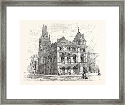 Building The Long Island Historical Society Framed Print by American School