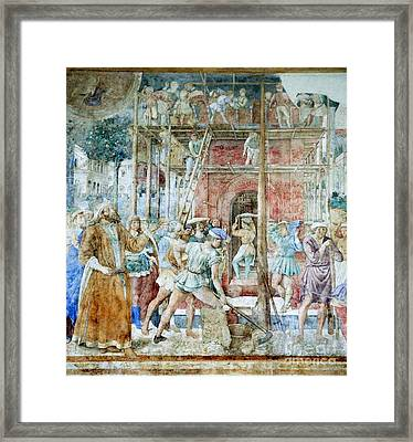 Building The Tower Of Babel, 14th Framed Print by Sheila Terry