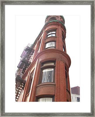 Framed Print featuring the photograph Building Toronto by Paula Brown