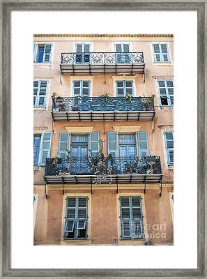 Building With Balconies Framed Print
