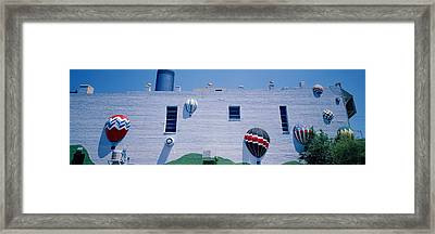 Building With Balloon Decorations Framed Print