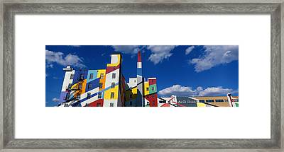 Building With Geometric Decorations Framed Print
