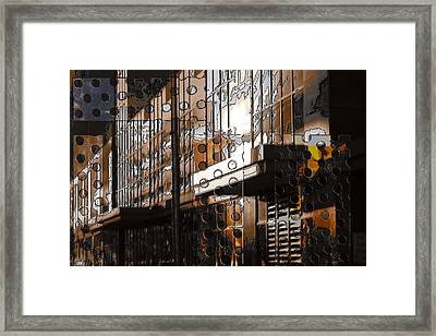 Building With Shimmering Circles Framed Print by Don Gradner