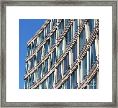 Building With Windows Framed Print