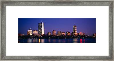 Buildings Along A River, Charles River Framed Print