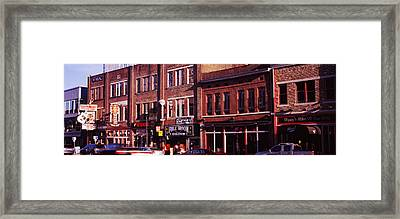Buildings Along A Street, Nashville Framed Print by Panoramic Images