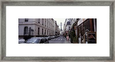 Buildings Along A Street Framed Print