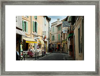 Buildings Along A Street, Rue Porte De Framed Print by Panoramic Images
