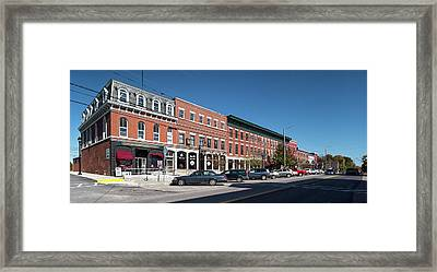 Buildings Along A Street, Thomaston Framed Print