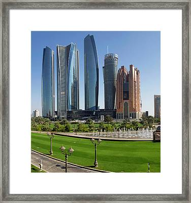 Buildings Along Corniche Road, Al Framed Print