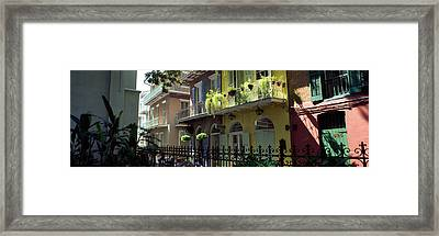 Buildings Along The Alley, Pirates Framed Print by Panoramic Images