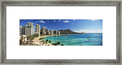 Buildings Along The Coastline, Diamond Framed Print by Panoramic Images