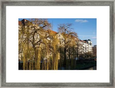 Buildings Along The Landwehr Canal Framed Print