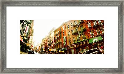 Buildings Along The Street, Chinatown Framed Print by Panoramic Images