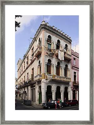 Buildings Along The Street, Havana, Cuba Framed Print
