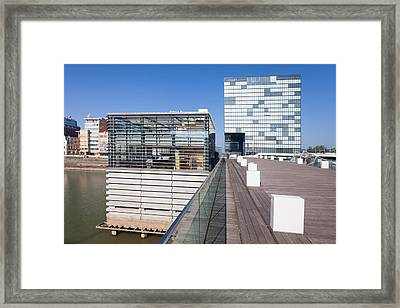 Buildings At A Harbor, Cubana Framed Print