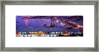 Buildings At A Harbor, Inner Harbor Framed Print by Panoramic Images