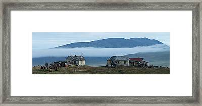 Buildings At Doubtful Village, Wrangel Framed Print by Panoramic Images