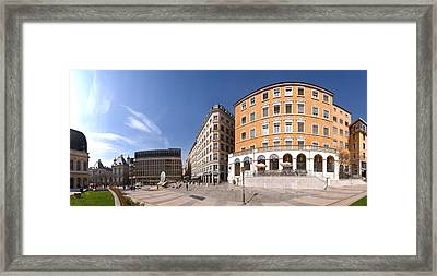 Buildings At Place Louis Pradel, Lyon Framed Print