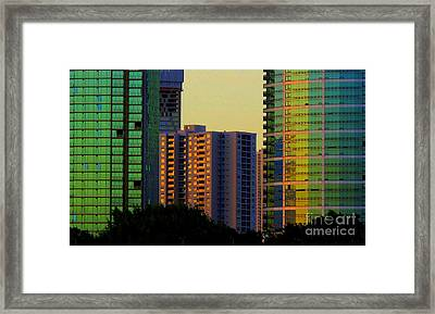Framed Print featuring the photograph Buildings At Sunset by Ranjini Kandasamy