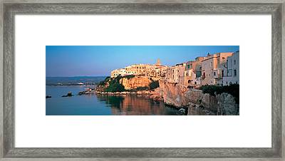 Buildings At The Coast, Vieste Framed Print by Panoramic Images