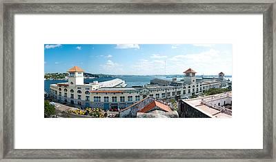 Buildings At The Harborfront, Sierra Framed Print