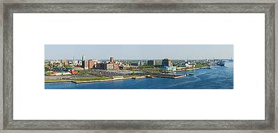 Buildings At The Waterfront, Adventure Framed Print