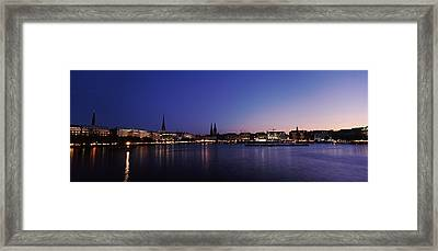 Buildings At The Waterfront, Alster Framed Print by Panoramic Images